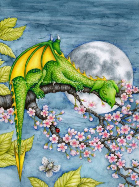 Sleeping Dragon Illustration