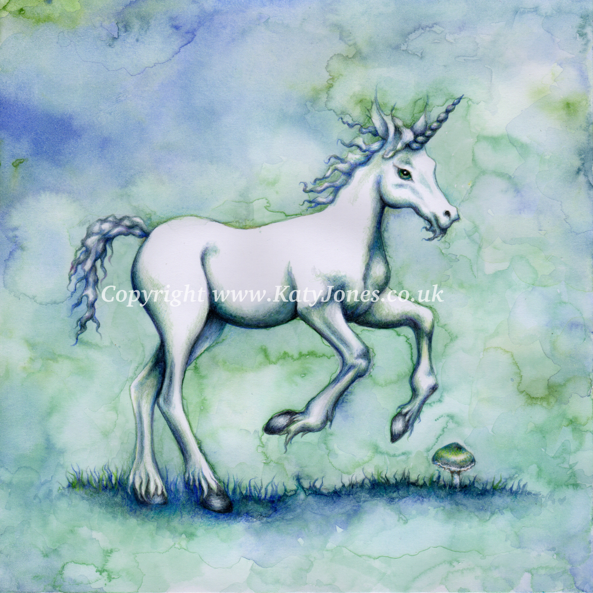Young woodland unicorn